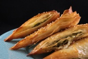 Spanakopita (tortine agli spinaci)