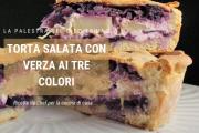 Torta salata con verza ai tre colori