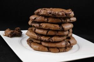 CCookies americani al doppio cioccolato fondente
