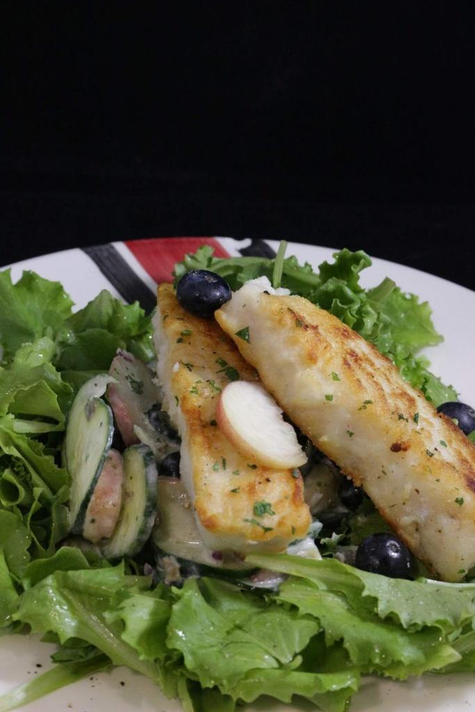 insalata di merluzzo e pesche